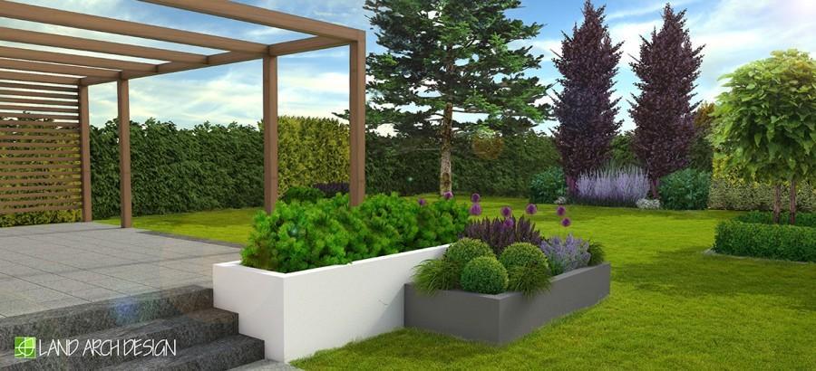 Donice W Ogrodzie To Pomysł Land Arch Design Sztuka