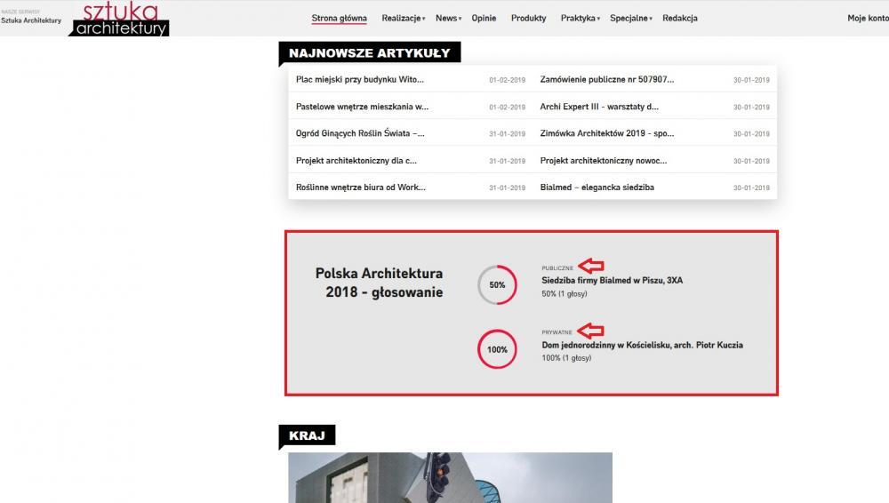 Plebiscyt Polska Architektura XXL 2018
