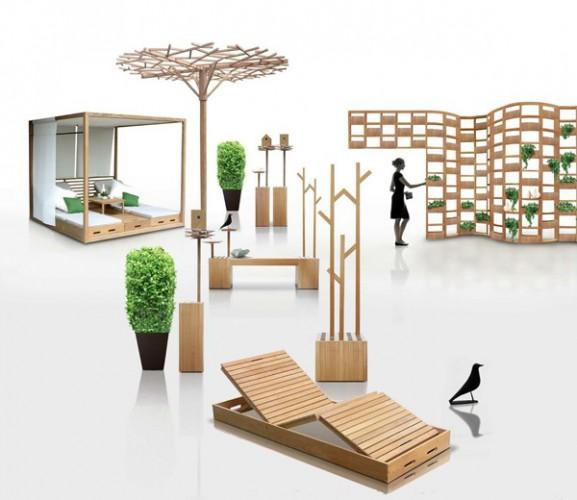 Bardzo dobryFantastyczny Drewniane meble ogrodowe - Sztuka architektury WR22