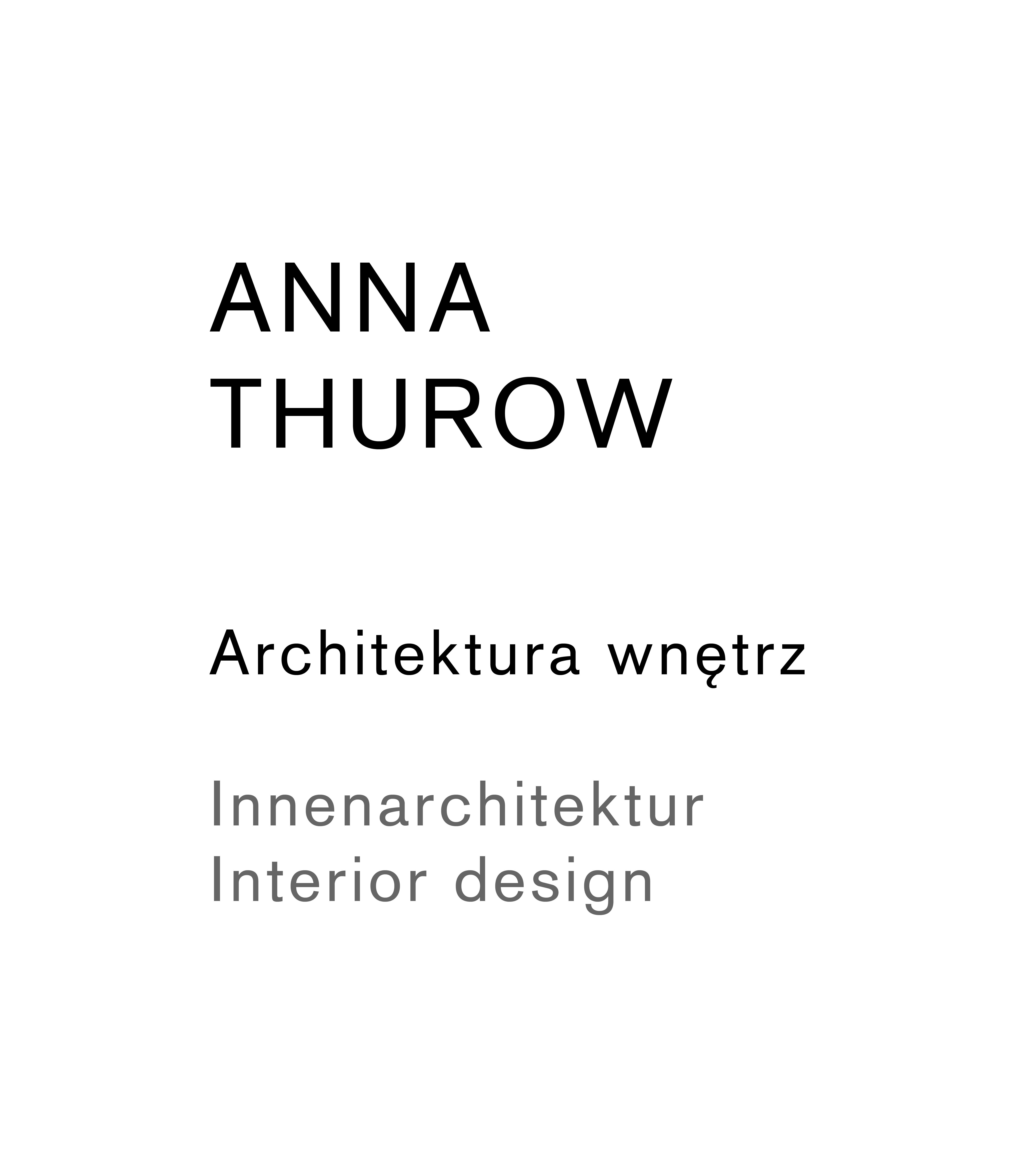 ANNA THUROW Architektura Wnętrz