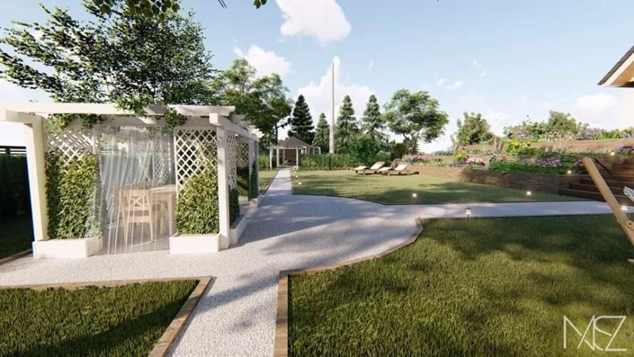 Wiejski Ogrod Przydomowy Od Pracowni Nasz Sztuka Architektury