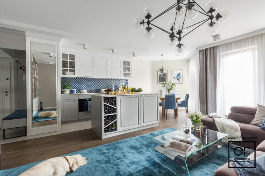 Salon I Kuchnia Projektu Of Design To Część Mieszkania W