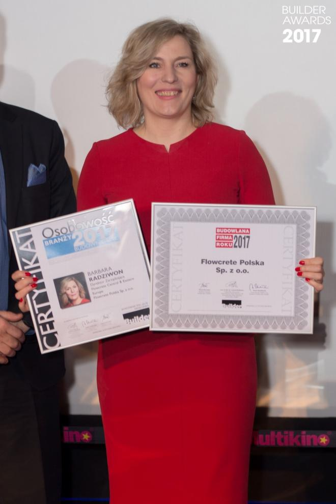 Builder Awards, Flowcrete, Barbara Radziwon