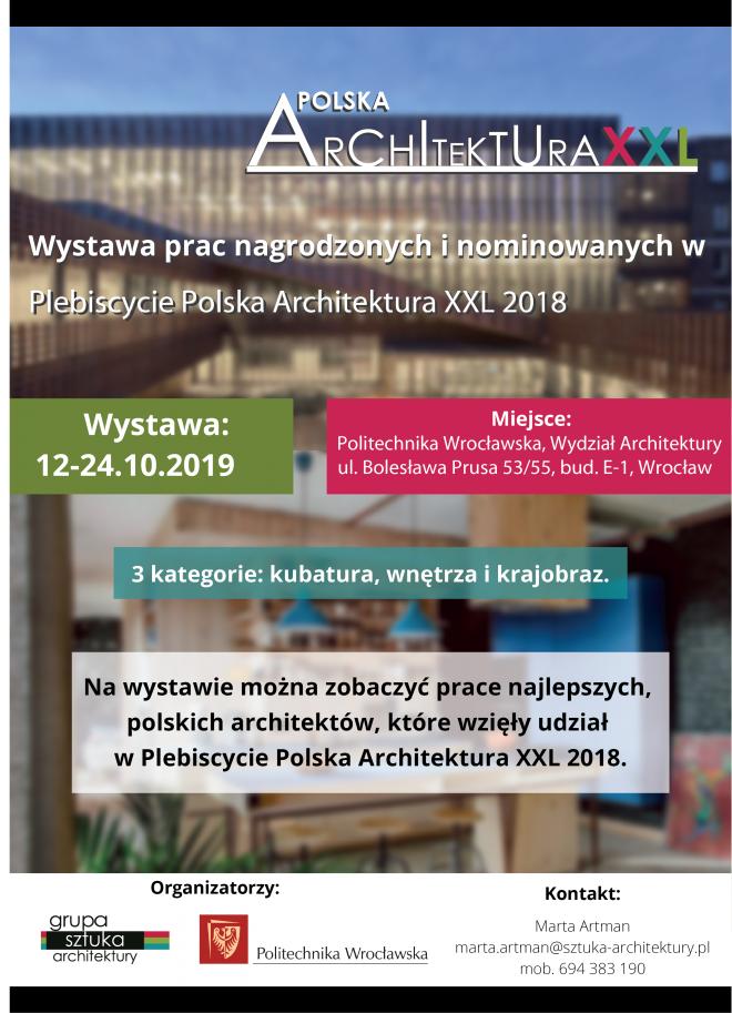 Wystawa Prac Architektonicznych Polska Architektura Xxl 2018